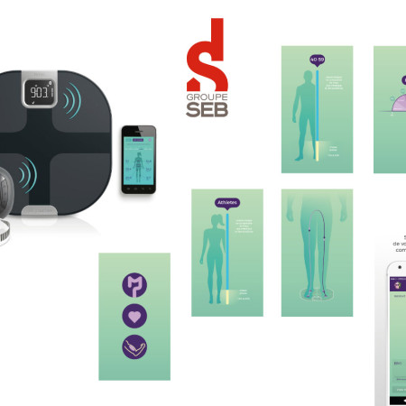 SEB / BODY PARTNER Illustrations pour Application mobile - Lyon FRANCE création d illustration graphisme design thomas voge