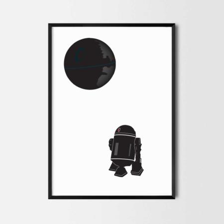 Rcube Cadre-illustration original-Death Star R2D2-thomas voge